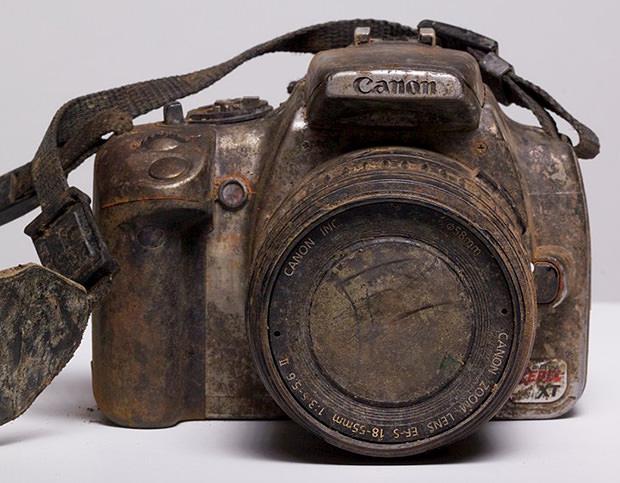 A pesar de su aspecto, esta cámara conservó las fotos intactas.