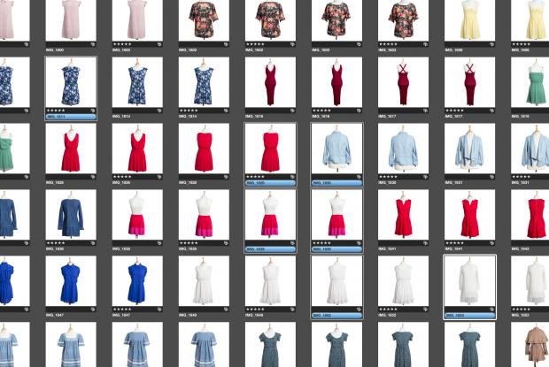 Ejemplo de pantalla para catalogar imágenes