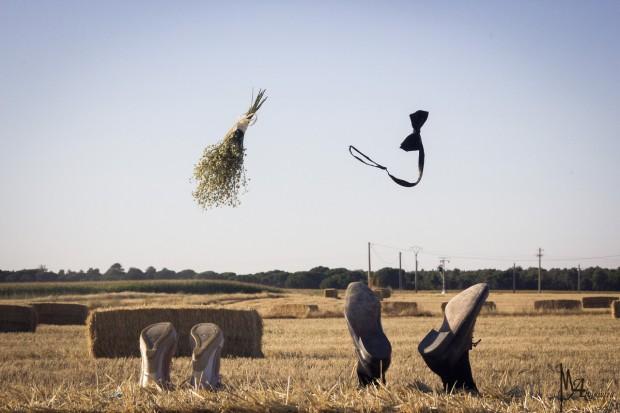 """""""Al vuelo y al cielo"""", imagen ganadora del III Concurso de Fotografía de Boda ProRetoque"""