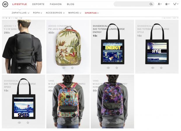 El retoque de fotografía de marca: mochilas