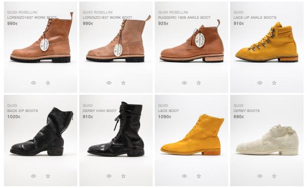 El retoque de fotografía de marca: botas