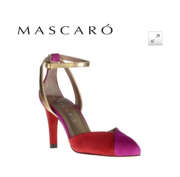 Vista 360 grados zapatos de tacón rosas de mujer marca Mascaró