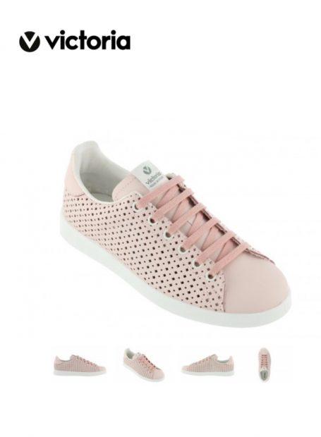 Zapatillas deportivas rosas de chica marca Victoria