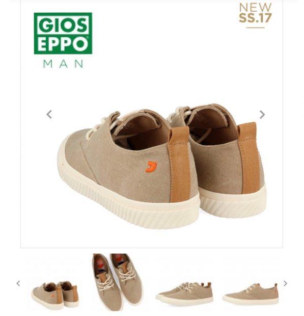 Zapato deportivo marrón de hombre marca Gioseppo